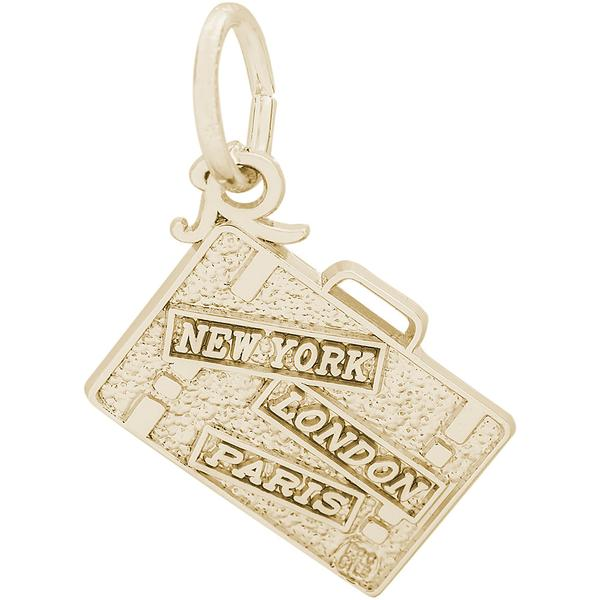 New York, London, Paris Suitecase Charm or Pendant by Rembrandt Charms