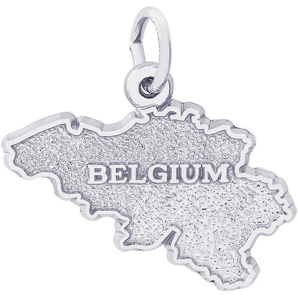 Belgium Map Charm or Pendant in Gold or Silver by Rembrandt Charms