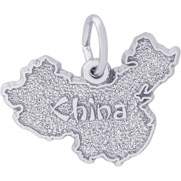 China Map Charm or Pendant in Gold or Silver by Rembrandt Charms