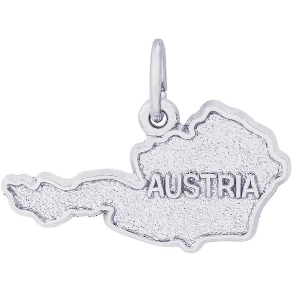 Austria Map Charm or Pendant in Gold or Silver by Rembrandt Charms
