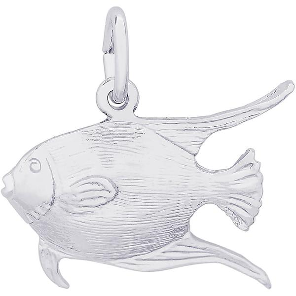 Angelfish Charm or Pendant in Silver or Gold by Rembrandt Charms